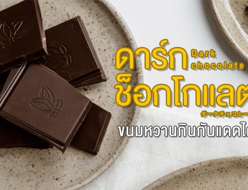 ดาร์กช็อกโกแลต ขนมหวานกินกันแดดได้